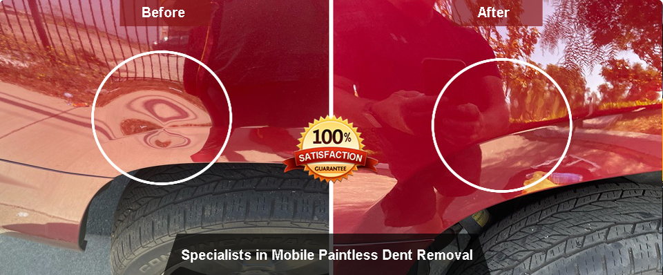Paintless dent removal before & after